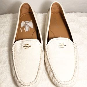 Coach Amber Leather Driving Loafers - Size 9